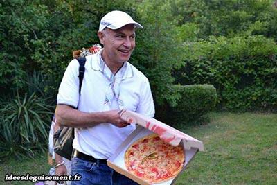 Disfraz barato de repartidor de pizza