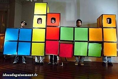 Disfraz divertido de Tetris blocks