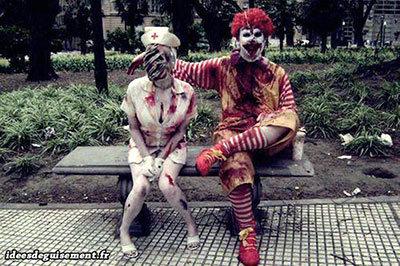 Disfraces para Halloween de zombie enfermera y zombie McDonald